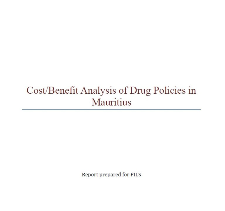 Cost Benefit Analysis of Drug Policies in Mauritius