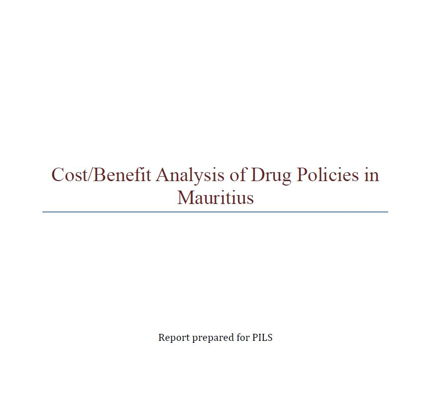 tude CostBenefit Analysis Of Drug Policies In Mauritius  Pils